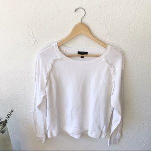 J. Crew • Cotton Ruffle Popover Sweater